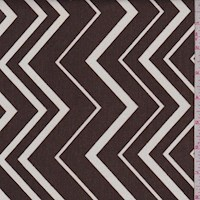 Mocha/White Zig Zag Cotton