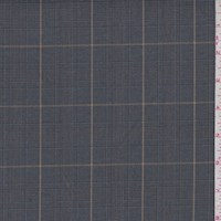 Dark Grey Glen Plaid Suiting