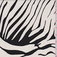 Ivory/Black Zebra Stripe Nylon Knit
