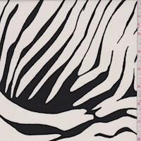 Ivory/Black Zebra Stripe Nylon Knit