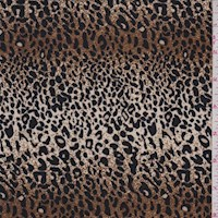 Golden Bronze/Black Mini Leopard Print Nylon Knit