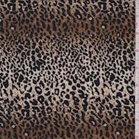 Golden Bronze/Black Mini Leopard Print Nylon Knit