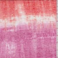 Aqua Green/Fuchsia/Tangerine Tie Dye Burnout Knit