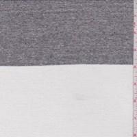 White/Stone Stripe Rayon Jersey Knit