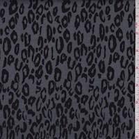 Pewter/Black Cheetah Print Double Knit