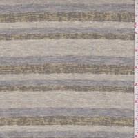 Buff/Grey Burnout Stripe Jersey Knit