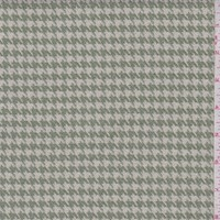 Jade Green/Pearl Houndstooth Brushed Jacketing