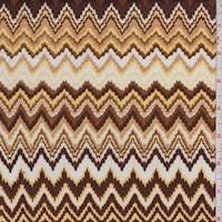 Brown/Ochre/Yellow Flamestitch Sweater Knit