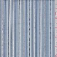 *4 YD PC--Denim/White Stripe Cotton Shirting