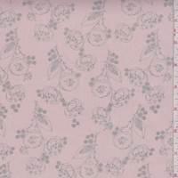 *5 YD PC--Dusty Pink/Grey Poppy Chiffon