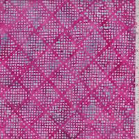 *4 1/2 YD PC--Deep Pink/Blue Dot Diamond Cotton Batik