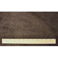*3 YD PC--Chocolate Brown Double Sided Sherpa Fleece Knit
