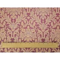 *1 1/8 YD PC--Antique Red/Beige Floral Damask Home Decorating Fabric