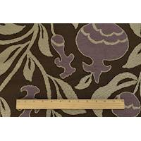 *4 YD PC--Brown/Mauve/Taupe Bud Floral Jacquard Decorating Fabric