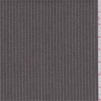 *2 1/4 YD PC--Walnut Brown/White Stripe Denim Look Suiting