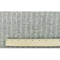 *1 YD PC--Thunder Gray Texture Wool Blend Brushed Back Sweater Fleece