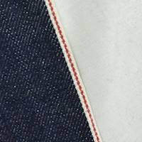 *1 3/8 YD PC--Inked Navy Blue Cotton Japanese Selvedge Denim