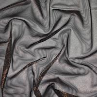 *1 1/4 YD PC--Black/Copper Print Mesh