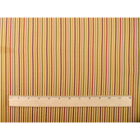 *3 YD PC--Mustard Yellow/Multi�Rib Stripe Home Decorating Fabric