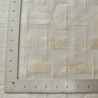 *3 YD PC--Ivory/White/Beige Semi-Sheer Ikat Plaid Woven Drapery Fabric