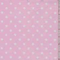 Baby Pink/White Mini Dot Print Minky