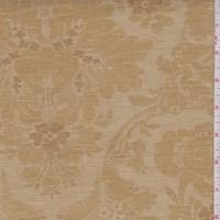 Antique Gold Floral Scroll Linen Canvas