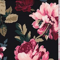 Black/Slate Multi Floral Scuba Knit