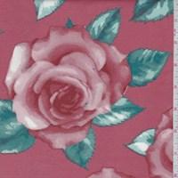 Rust Rose Bloom Scuba Knit