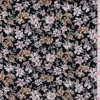 Black/Blush/Bronze Floral Scuba Knit