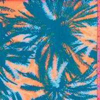 Pale Grey/Royal/Orange Palm Scuba Knit