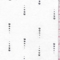 Black/Silver Rain Dot Brushed Jersey Knit