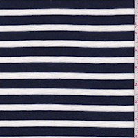 Dark Blue/White Stripe Jersey Knit