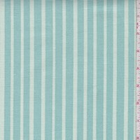 Ocean Green Stripe Printed Linen Decor Fabric