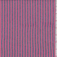Melon Pink/Denim Stripe Rib Knit
