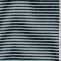 Seafoam Blue/Slate Stripe Rib Knit