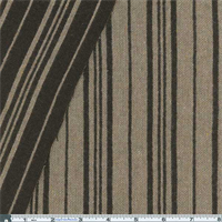 *2 YD PC--Brown/Wheat Double Cloth Reversible Stripe