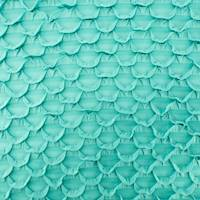 *2 YD PC--Teal Scallop Ruffle Knit