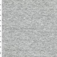 *1 1/2 YD PC--Black/White Stripe Slub Jersey Knit