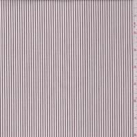 *2 3/4 YD PC--Mocha/White Stripe Cotton Shirting