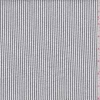*2 YD PC--Dusty Black/White Cotton Stripe Seersucker