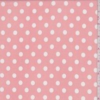 *2 YD PC--Creamy Pink/White Dot ITY Knit