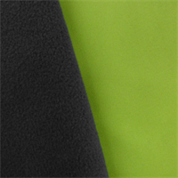 *1 YD PC--Apple Green/Gray Soft Shell Fleece