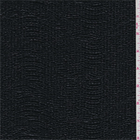*5 1/2 YD PC--Black Patent Crinkled Novelty Knit