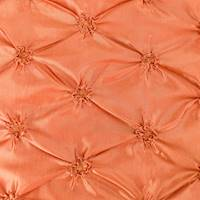 *1 YD PC--Golden Orange Iridescent Floral Embroidered Ruche Taffeta