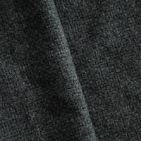 *1 1/8 YD PC--Thunder Gray Wool Blend Basketweave Jacketing