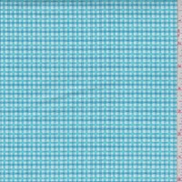 *1 3/4 YD PC--Turquoise Gingham Check Print Cotton