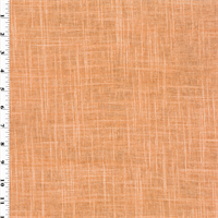 *2 1/2 YD PC--Orange/Silver Designer Gaga Glitter Linen Home Decorating Fabric