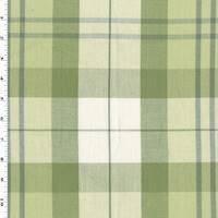 *1 YD PC--Matcha/Gray/Multi Cotton Plaid Home Decorating Fabric