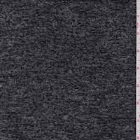 *1 YD PC--Heather Black Wool Blend Jacketing