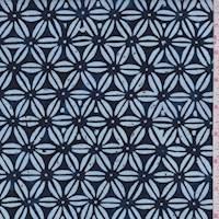 *5 3/4 YD PC--Indigo/Cloud Stars Cotton Batik